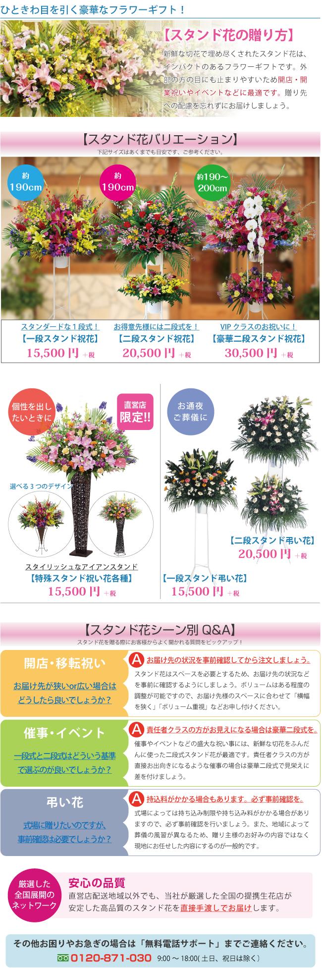 スタンド花の贈り方特集